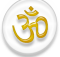 Symbol of Hinduism, white and golden version.